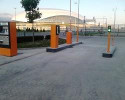 Монтаж автоматического паркинга в Олимпийской деревне