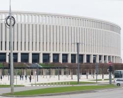 Монтаж автоматического паркинга стадиона «Краснодар»