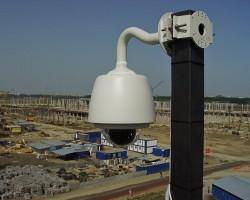 Монтаж системы видеонаблюдения на строительстве гипермакета «МЕГА Икея»