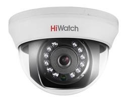 Внутренняя 1 Мп HD-TVI купольная камера HiWatch DS-T101 с ИК-подсветкой